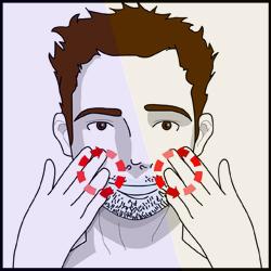 scheren-huid-nat-maken