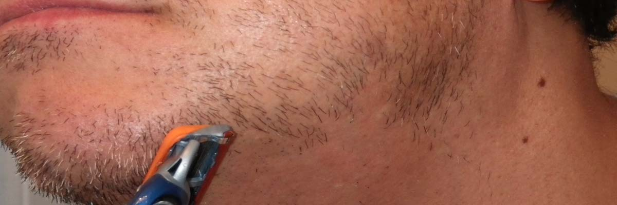 Scheermesje verstopt / geblokkeerd bij lange haren